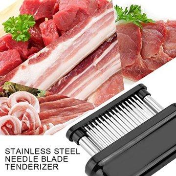 Fleisch Fleischzartmacher zartmacher Tenderizer 48 Edelstahl Ultra Sharp Nadel Klingen Tenderizers Manuelle Küche Werkzeug für Steak Rindfleisch Huhn Schweinefleisch - 6