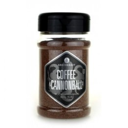 Ankerkraut Coffee Cannonball, 200g im Streuer, das etwas andere BBQ-Rub mit Kaffee- und Kakaopulver zum Marinieren von Rind-, Lamm- und Wildfleisch - 1
