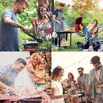 Likey Grillbesteck Set, 10-teilig Grillwerkzeug-Set,Grillzange, Grillwender, Grillbürste, Grillspieße, Fleischgabel, Silikon-Backpinsel - 3