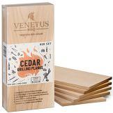 VENETUS-BBQ Grillbretter XL – Kanadisches Zedernholzbrett zum Grillen (6er Set) - 1
