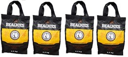 BlackSellig 10 kg Beachies (4 x 2,5 kg) Kokos Grill Briketts Reine Kokosnussschalen Grillkohle - perfekte Profiqualität - für den Short Job - 1