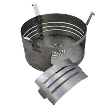 A. Weyck Tools Multifunktionstonne | Feuertonne | Feuerplatte | Dutch Oven Station | Pizza Ofen | Kamin | Plancha | Komplettsets (Multitonne-100cm Feuerplatte Set #170) - 4