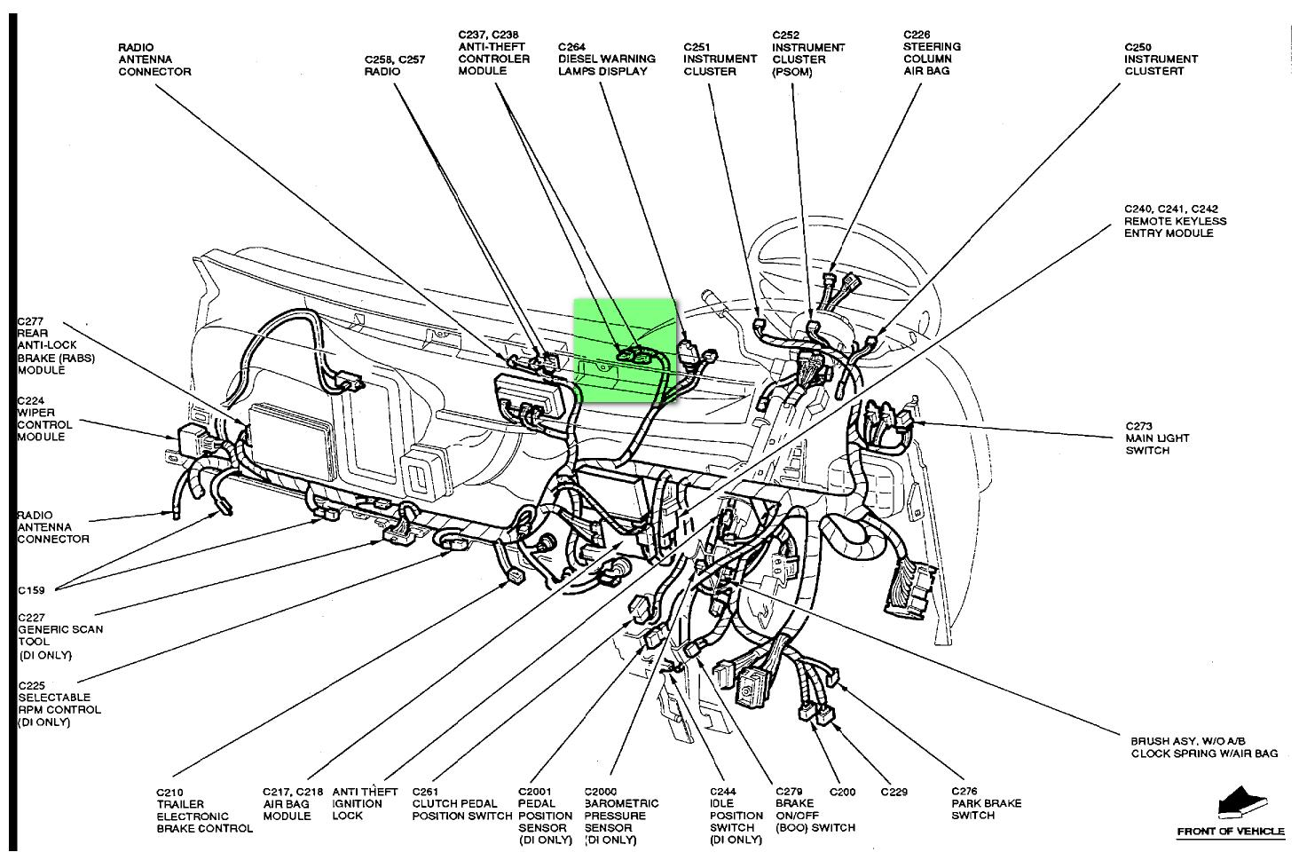 hight resolution of anti theft system module location in a 94