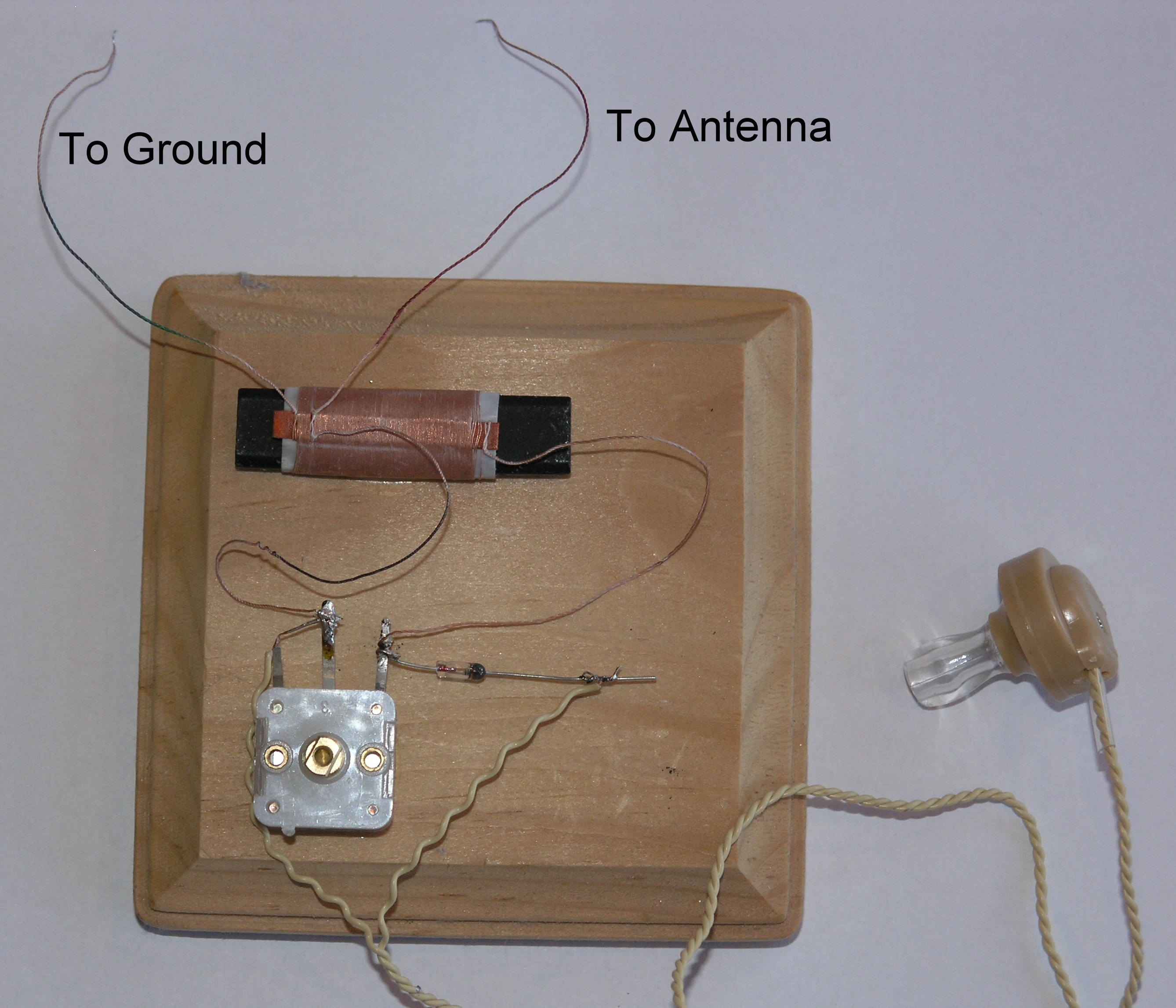 Diagram Of Crystal Radio With A Germanium Diode