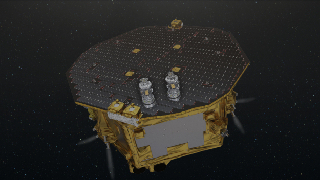 Artist's impression of LISA Pathfinder operating in space