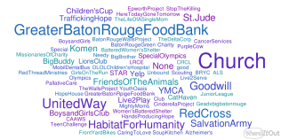 These are the nonprofits that people are familiar with.