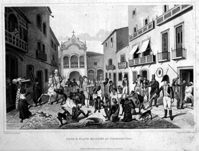 Augustus Earle - Slave Market at Pernambuco