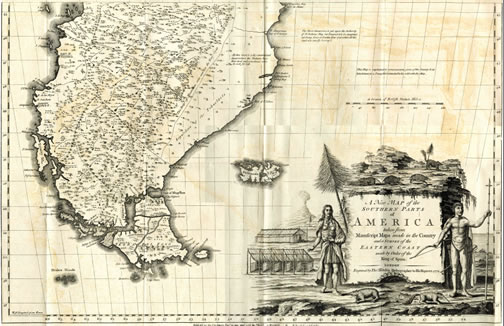 Thomas Falkner map of South America