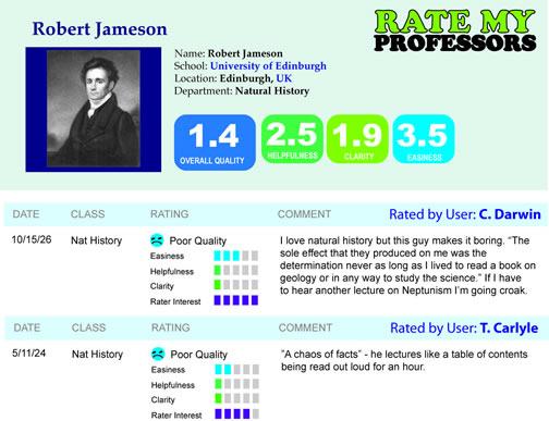 rate my professor spoof of Robert Jameson