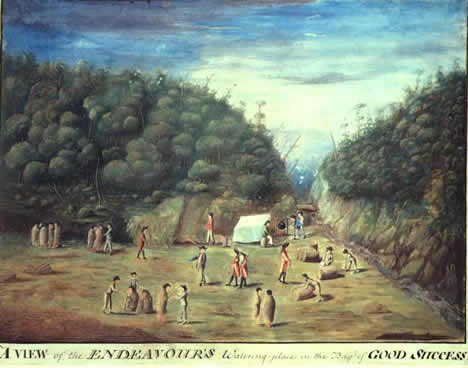 painting of Good Success Bay