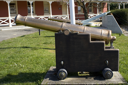 brass cannons
