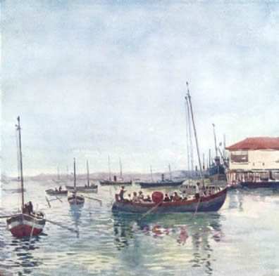 Painting of Bahia Blanca by A.S. Forrest
