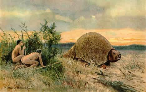 Hunting glyptodonts
