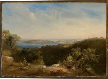 Conrad Martins landscape painting - Sydney