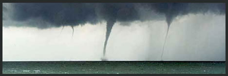 Waterspout over Lake Huron