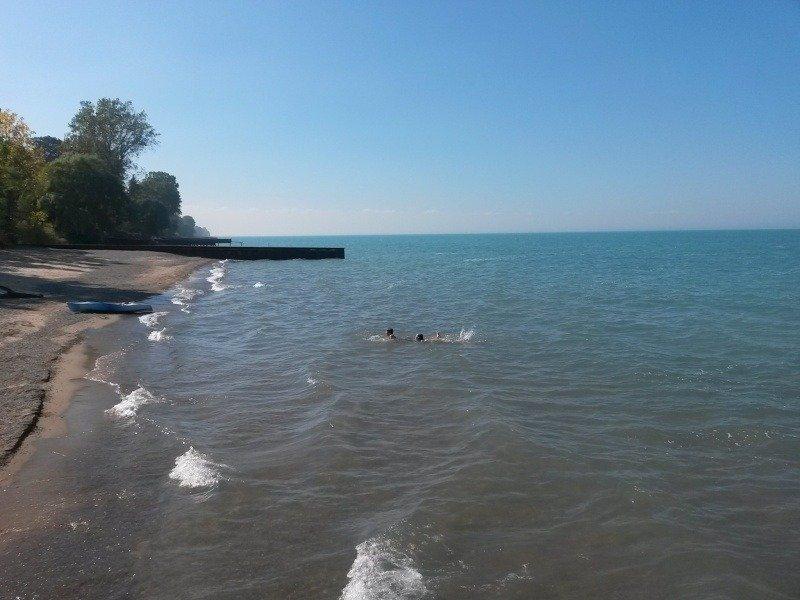 Water of Lake Huron near Sarnia, Ontario