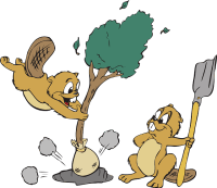 http://pixabay.com/en/animals-tree-shovel-hole-dirt-46210/