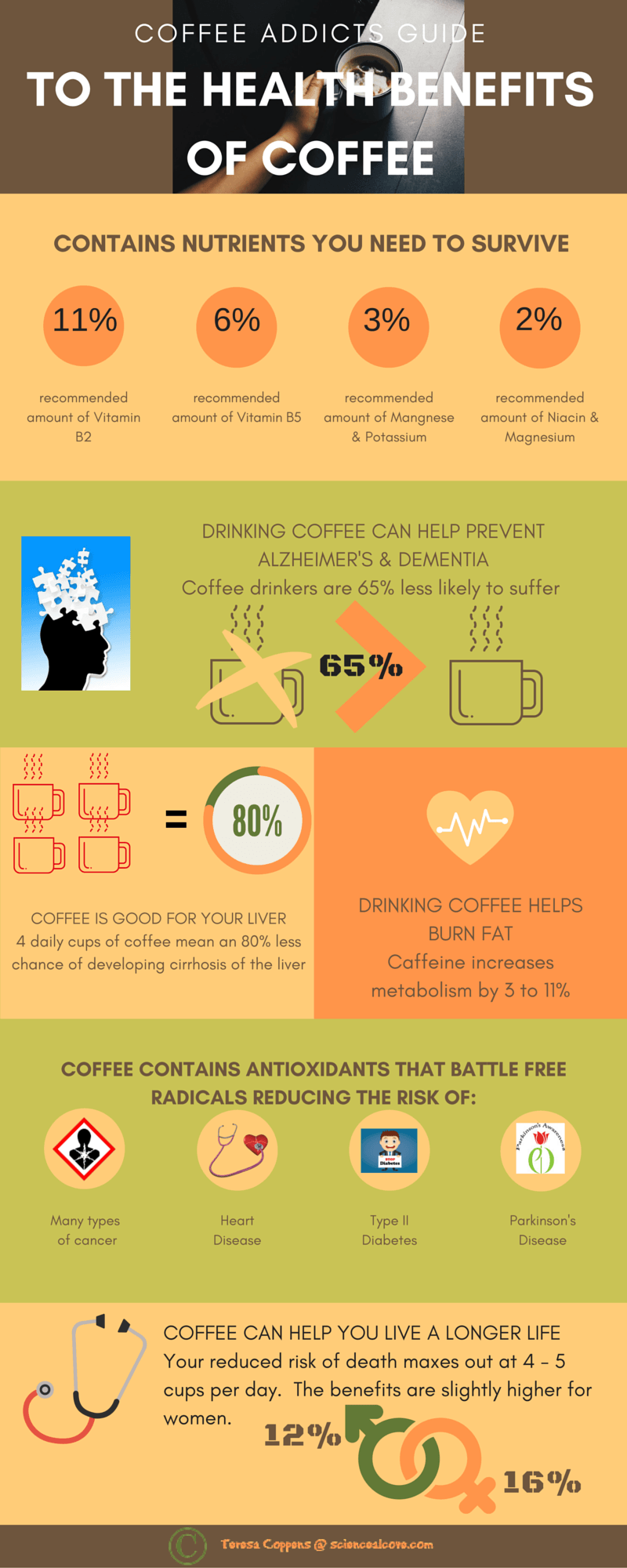 Coffee Addicts Guide to The Health Benefits of Coffee. Absolutely love coffee? See why its not such a bad habit! https://www.pinterest.com/tereden/