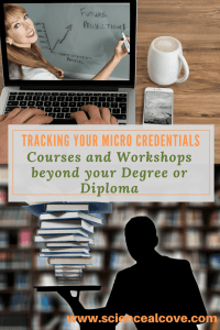 Tracking Your Micro credentials - Courses and Workshops beyond your Degree or Diploma-feature -http://sciencealcove.com/2018/03/tracking-your-micro-credentials/