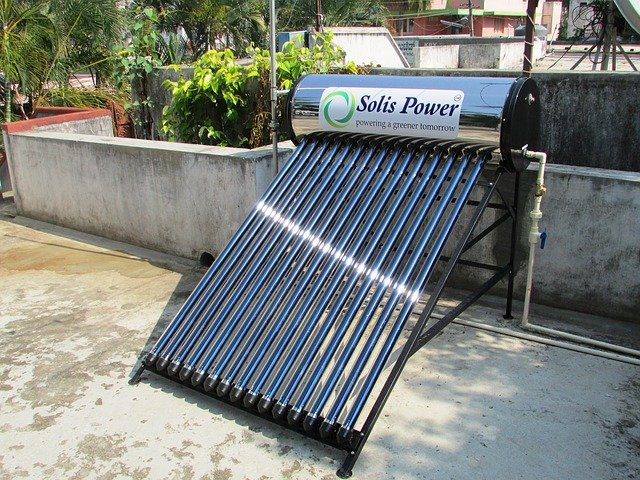 solar water heater and gardening