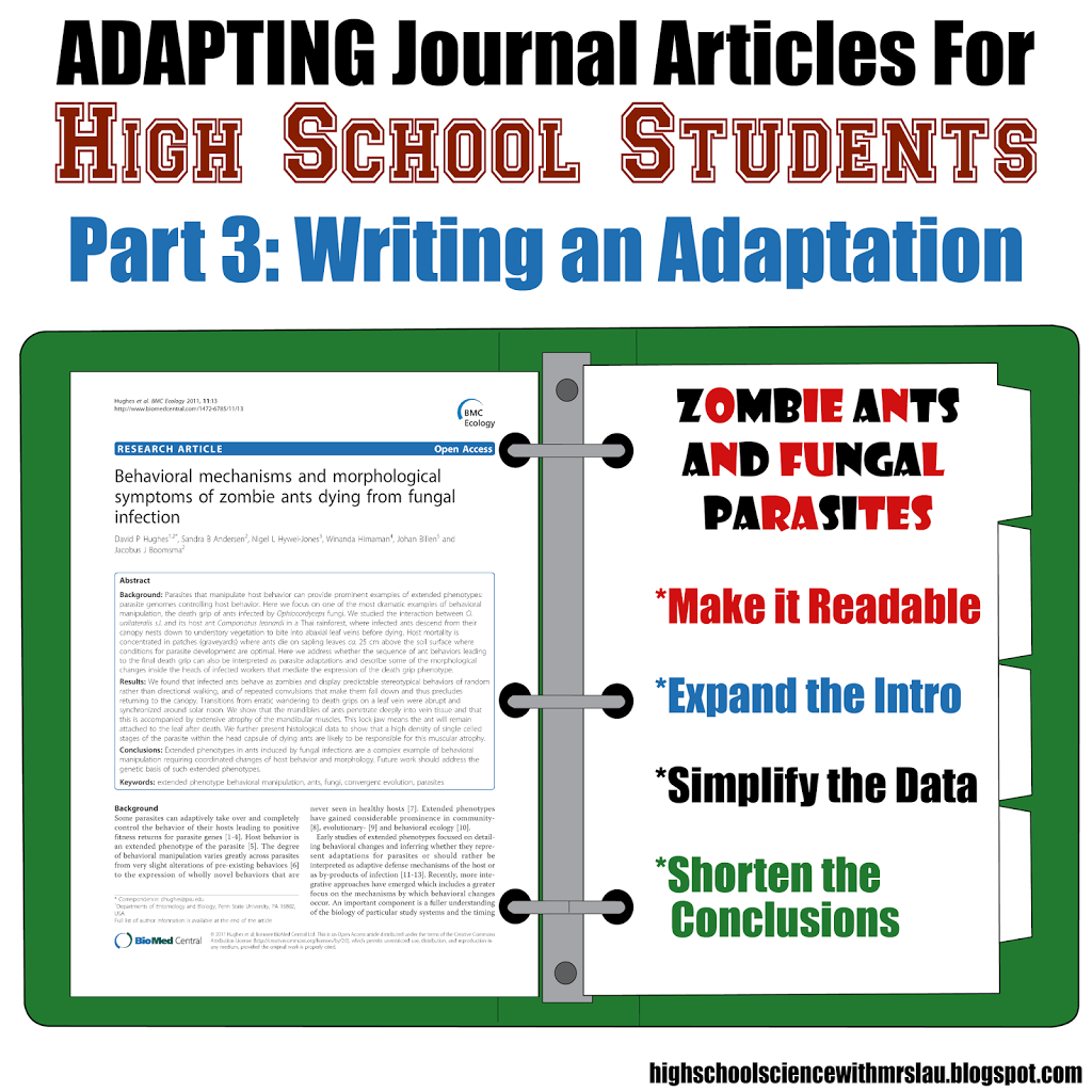 Adapting Journal Articles For High School Students Part 3  Science And Math With Mrs Lau