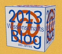 """Darum geht es, für 2014: Der """"goldene Wissenschafts-Block"""" für den """"Wissenschafts-Blog des Jahres""""."""