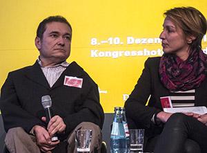 Schock vom Communicator-Preisträger: Prof. Güntürkün mit Nicolas Kuhrt (Spiegel online).