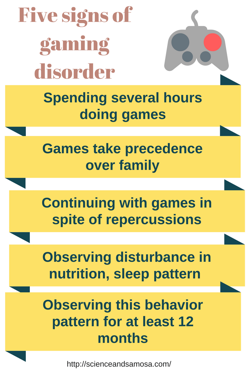 Five signs of gaming disorder