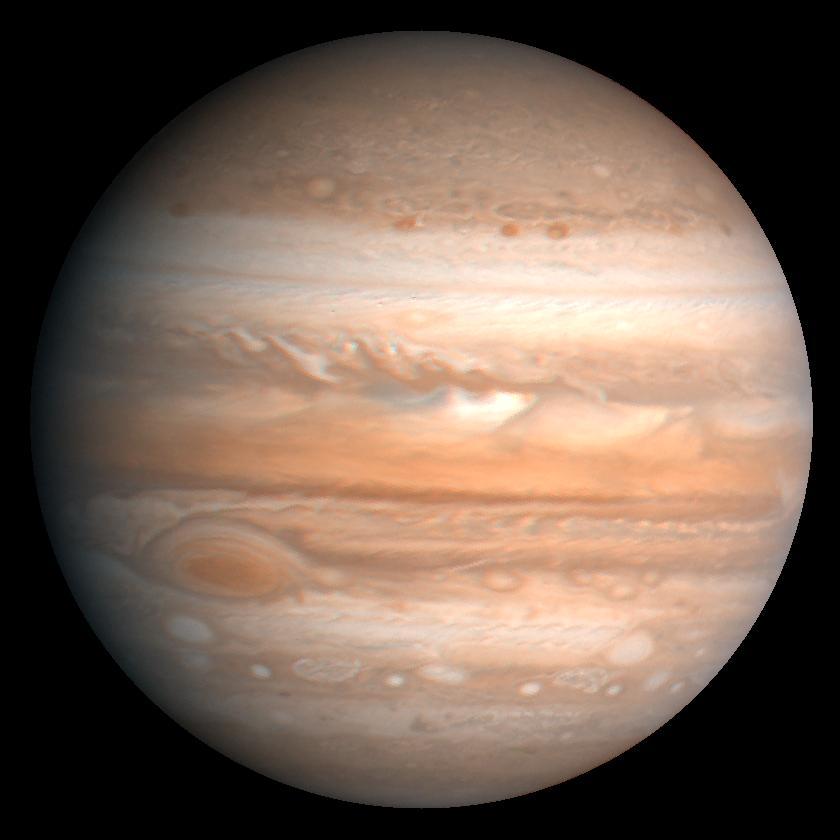 photo de la planète gazeuse jupiter prise par la sonde voyager 1