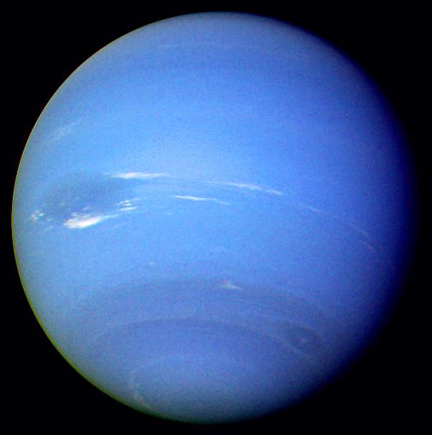 photo de la planète gazeuse neptune prise par la sonde voyager 2