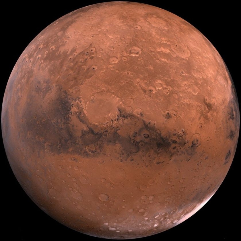 Mars en opposition le 16 octobre 2020