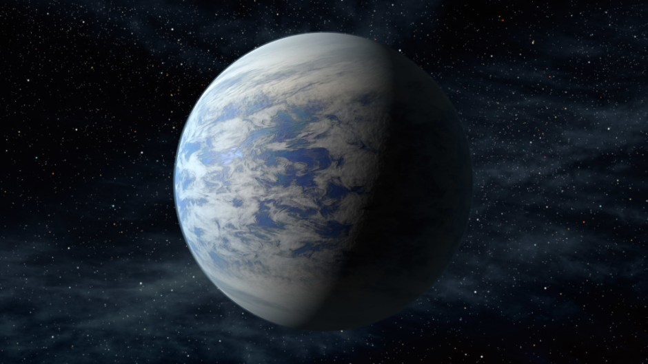 Kepler-69c, a super-Earth-size planet in the habitable zone of a star like our sun, located about 2,700 light-years from Earth in the constellation Cygnus. Image: NASA Ames/JPL-Caltech/T. Pyle