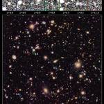 This new image of the Hubble Ultra Deep Field (HUDF) 2012 campaign reveals a previously unseen population of seven faraway galaxies, which are observed as they appeared in a period 350 million to 600 million years after the big bang. Credit: NASA, ESA, R. Ellis (Caltech), and the UDF 2012 Team
