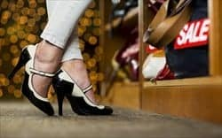 Wearing high heels can change the way you shop