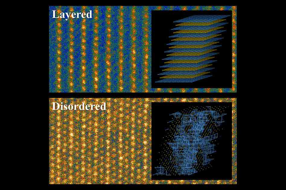 Batteries benefit from disordered materials