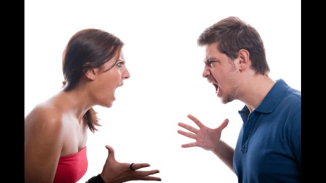 Fighting couple love romance
