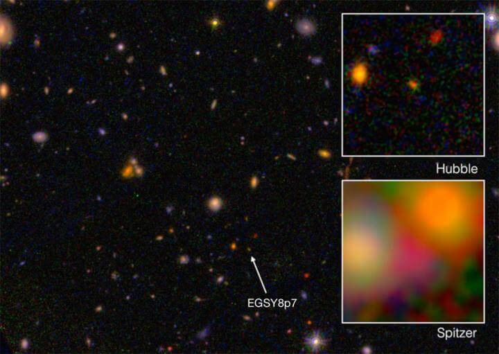 Caltech astronomers detect the farthest galaxy yet with Keck telescope