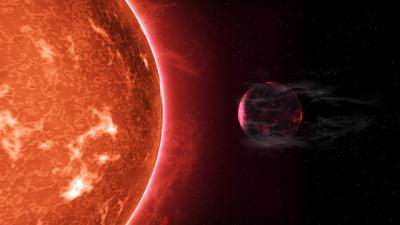 Hot super-Earths stripped by host stars: 'Cooked' planets shrink due to radiation