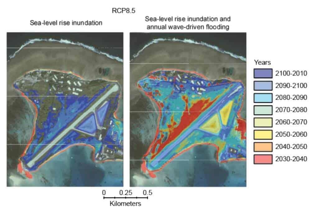 Study says low-lying islands uninhabitable by mid-century