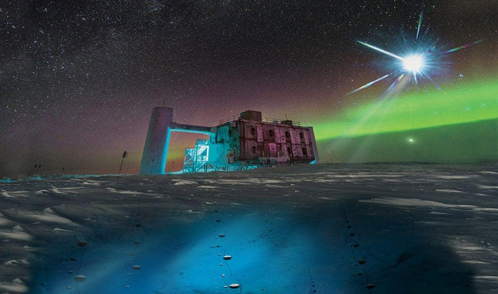 In Antarctica found a particle from another galaxy