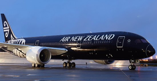 colored plane from air new zealand