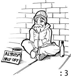Altruism half off