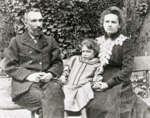 Pierre and Marie Curie and Their Daughter Irene
