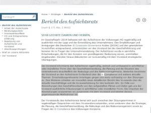 VW Bericht des Aufsichtsrats