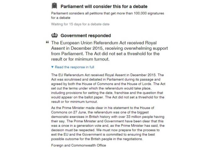 Petition 2nd referendum