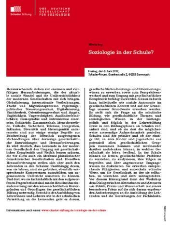 Soziologie in der Schule