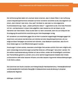 Goettingen Stellungnahme 2