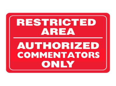 Restricted area commentators