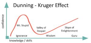 Dunning Kruger Effekt oder auch Mount Stupid