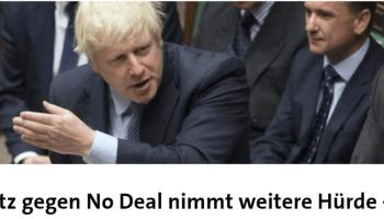 Brexit-Bill: ARD feiert in Unkenntnis eine Niederlage als Sieg